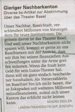Theater Basel-Diskussion auf der Landschaft