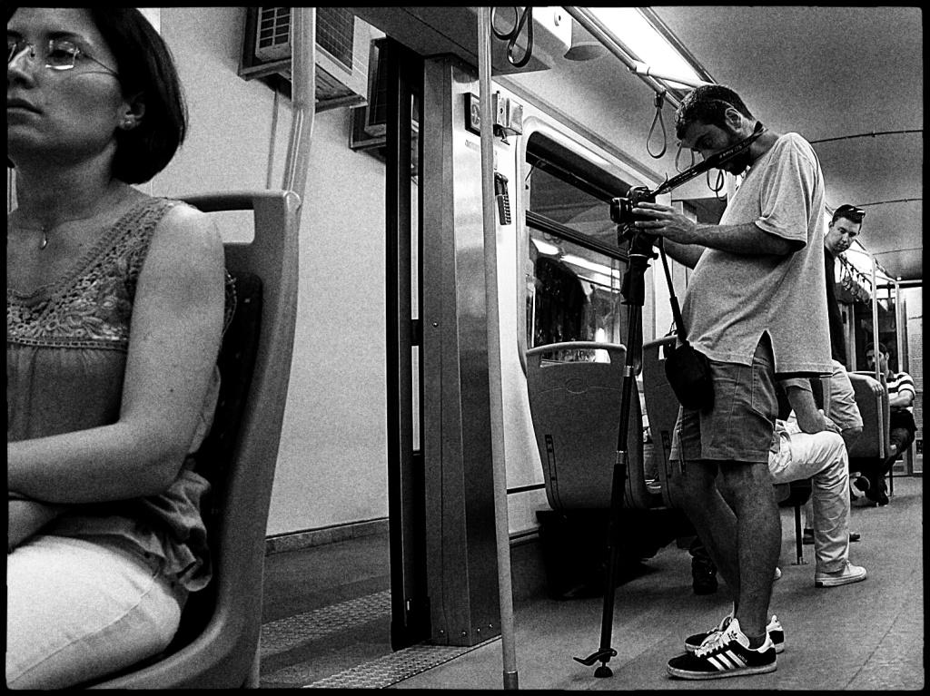 Mann fotografiert Mann