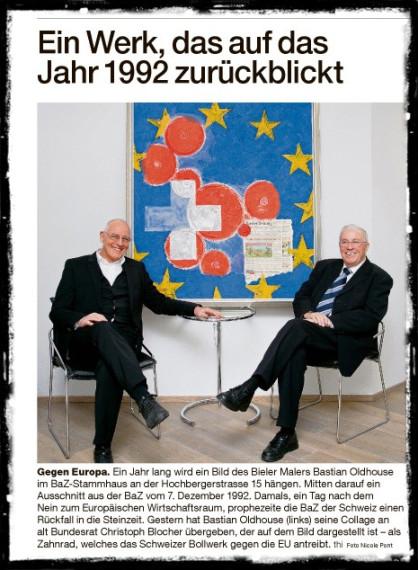Herr Blocher richtet sich bei der BaZ eine Schlagzeilen-Trophäensammlung ein