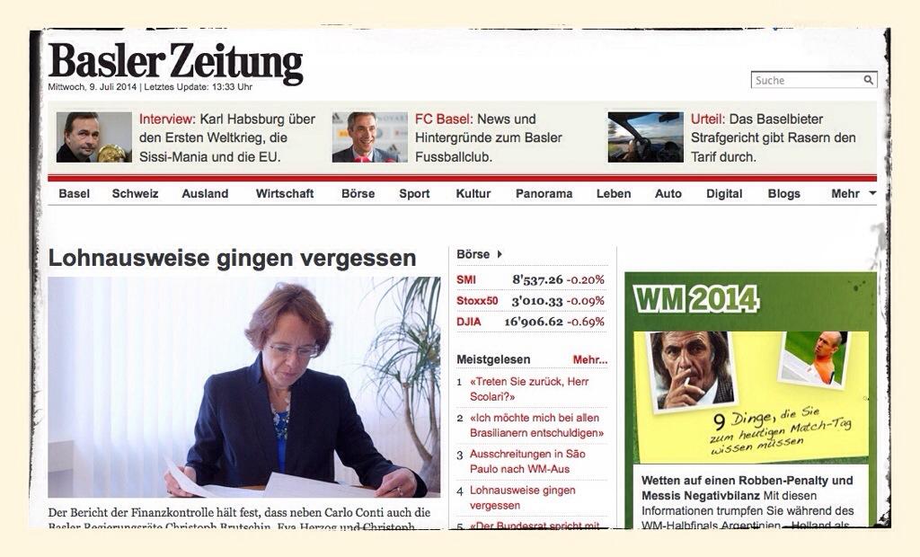 Ist geböngt, werde für die Basler Zeitung schreiben